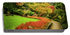 Portable Battery Charger featuring the photograph Garden Walk by Steven Sparks