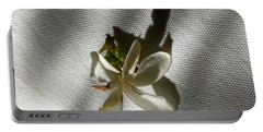 Gardenia On Tablecloths  Portable Battery Charger