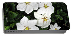 Gardenias In The Rain Portable Battery Charger