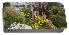 Portable Battery Charger featuring the photograph Gardens At Albert Train Station In France by Therese Alcorn