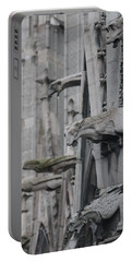 Portable Battery Charger featuring the photograph Gargoyles North Notre Dame by Christopher Kirby