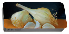 Garlic 01 Portable Battery Charger by Wally Hampton