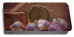 Garlic Bulbs Portable Battery Charger by Tom Mc Nemar