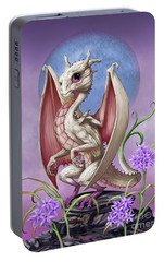 Portable Battery Charger featuring the digital art Garlic Dragon by Stanley Morrison