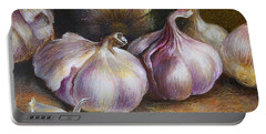 Garlic Painting Portable Battery Charger