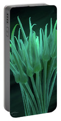 Garlic Scapes 01 Portable Battery Charger by Wally Hampton