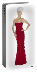 Portable Battery Charger featuring the digital art Garnet by Nancy Levan