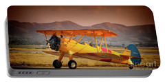 Gary Peters Boeing Stearman Kaydet 2016 Planes Of Fame Version 2 Portable Battery Charger