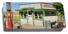 Gas Station Portable Battery Charger by Steve McKinzie