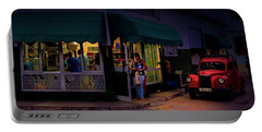 Portable Battery Charger featuring the photograph Gasolinera Linea Y Calle E Havana Cuba by Charles Harden