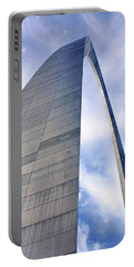 Portable Battery Charger featuring the photograph Gateway Arch - Grace - Saint Louis by Nikolyn McDonald