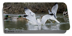 Gathering Of Egrets Portable Battery Charger