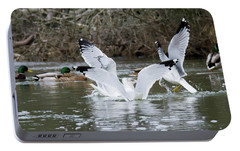 Portable Battery Charger featuring the photograph Gathering Of Egrets by George Randy Bass