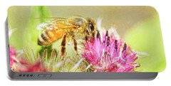 Gathering Pollen Portable Battery Charger