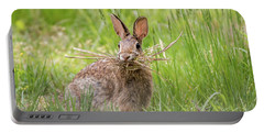 Gathering Rabbit Portable Battery Charger by Terry DeLuco