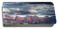 Gathering Storm Over The Fingers Of Kolob Portable Battery Charger