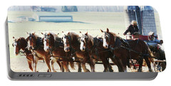 Gathering Up The Hay With A Six Horse Teamin Lancaster County Pennsylvania Portable Battery Charger