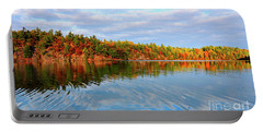 Gatineau Park Autumn Landscape Portable Battery Charger by Charline Xia