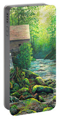 Portable Battery Charger featuring the painting Gatlinburg  Tenessee Mill by Lou Ann Bagnall