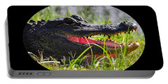 Portable Battery Charger featuring the photograph Gator Grin .png by Al Powell Photography USA