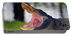 Portable Battery Charger featuring the photograph Gator Gullet by Al Powell Photography USA