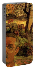 Gauguin Study In Orange Portable Battery Charger
