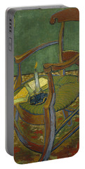 Portable Battery Charger featuring the painting Gauguin's Chair by Van Gogh