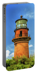 Portable Battery Charger featuring the painting Gay Head Lighthouse by Christopher Arndt