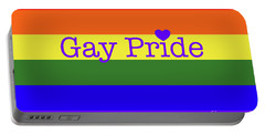 Gay Pride Love Portable Battery Charger