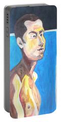 Portable Battery Charger featuring the painting Gay Survivor by Esther Newman-Cohen
