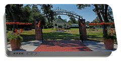 Portable Battery Charger featuring the photograph Gazebo At Celebration Park by Judy Vincent