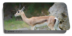 Portable Battery Charger featuring the painting Gazelle Pose by Judy Kay