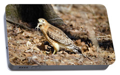 Portable Battery Charger featuring the photograph Gecko For Lunch by George Randy Bass