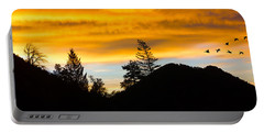 Portable Battery Charger featuring the photograph Geese At Sunrise by Shane Bechler