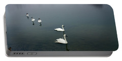 Geese In A Row Portable Battery Charger