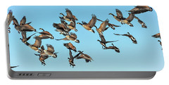Geese In Flight Portable Battery Charger