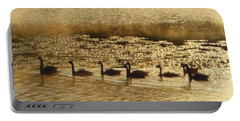 Geese On Golden Pond Portable Battery Charger