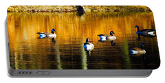 Geese On Lake Portable Battery Charger