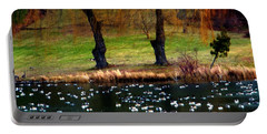 Geese Weeping Willows Portable Battery Charger