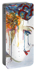 Geisha Soul Watercolor Painting Portable Battery Charger