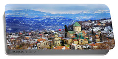 Portable Battery Charger featuring the photograph Gelati Monastery by Fabrizio Troiani