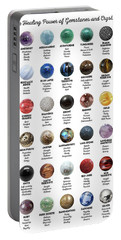 Gemstones And Crystals Portable Battery Charger