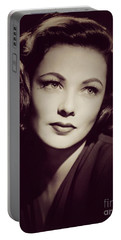 Gene Tierney, Vintage Movie Star Portable Battery Charger