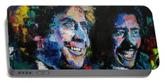 Gene Wilder And Richard Pryor Portable Battery Charger by Richard Day