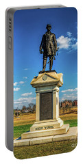 Portable Battery Charger featuring the photograph General Abner Doubleday - Gettysburg National Park by Nick Zelinsky