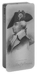 Portable Battery Charger featuring the mixed media General Anthony Wayne by War Is Hell Store