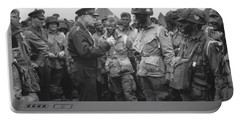 General Eisenhower On D-day  Portable Battery Charger by War Is Hell Store