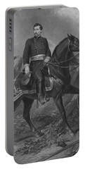 Portable Battery Charger featuring the mixed media General George Mcclellan On Horseback by War Is Hell Store