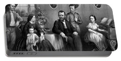 Portable Battery Charger featuring the mixed media General Grant And His Family by War Is Hell Store