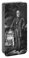 General Lee Visits The Grave Of Stonewall Jackson Portable Battery Charger